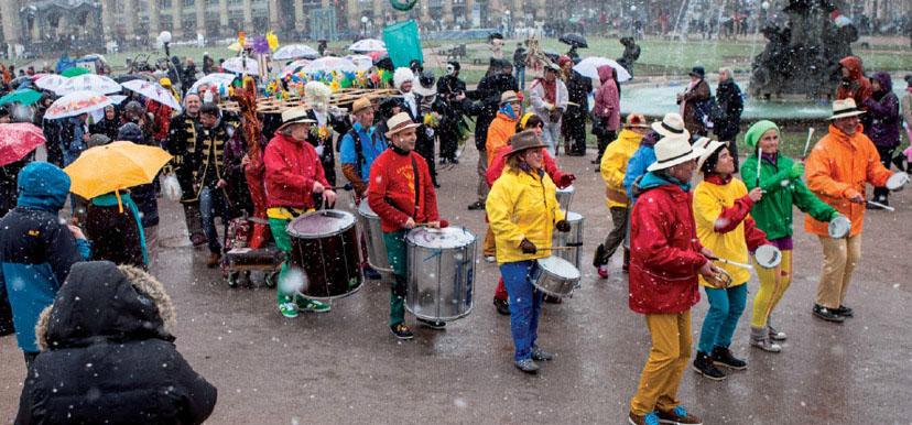 Sylvia Wanke mit dem wanke.ensemble auf der Künstlerparade des VBKW am 23.03.2013