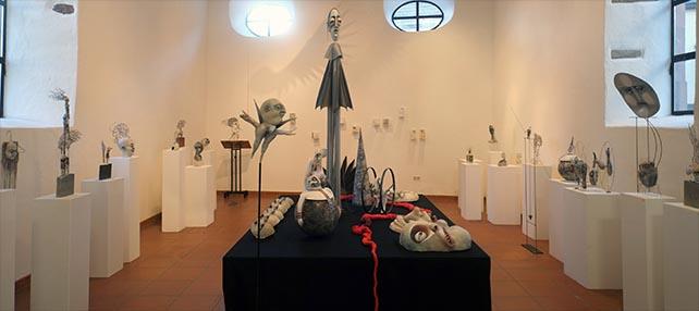 Luftschlösser und Sandburgen - eine Ausstellung von Sylvia Wanke